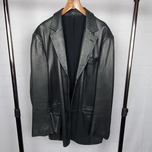 Men's Vintage Leather Kenneth Cole Blazer - XXL